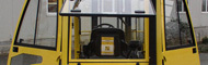 Cabs for forklift trucks